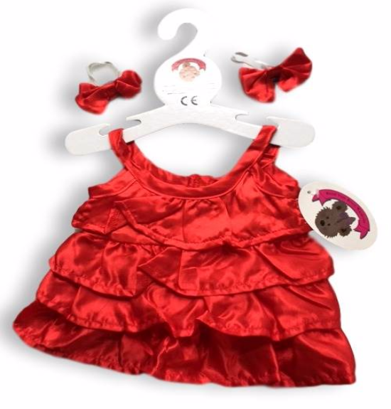Frilly Red Dress with 2 Bows