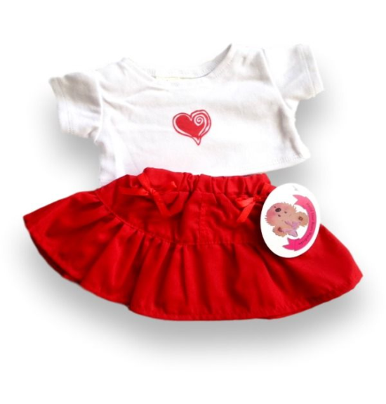 Red Heart Skirt Outfit